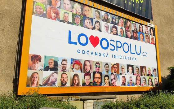 Billboard pro občanskou iniciativu LOVO Spolu