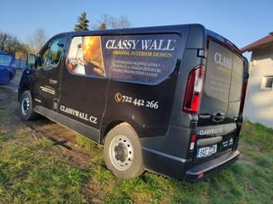 Reklamní polep automobilů společnosti ClassyWall
