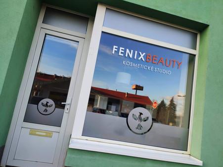 Polep výlohy pro kosmetické studio Fenix Beauty Lovosice
