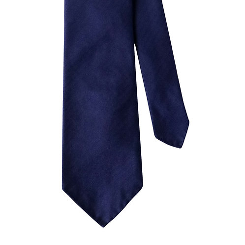 Royal Blue Herringbone 3-Fold Silk Necktie Tie