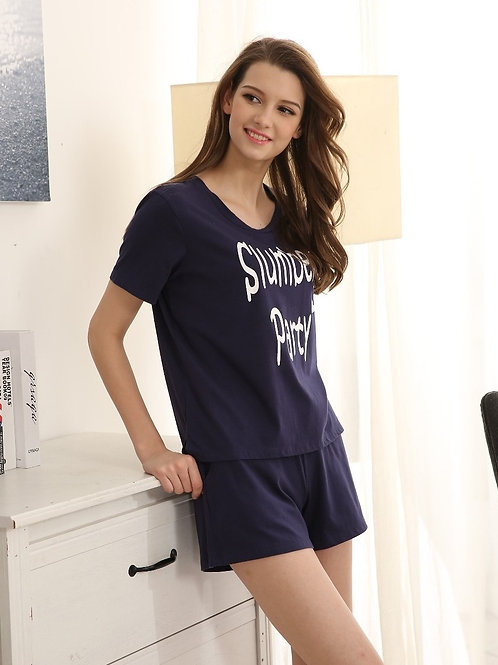 Slumber Party lovely Pajama Set 夏日甜美家居套裝