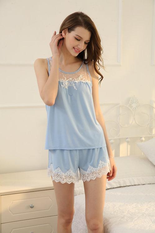 Sexy Lace Vest & Short 性感蕾絲睡衣套裝