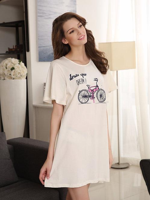 Bicycle Print T-shirt Dress 單車印花連身裙