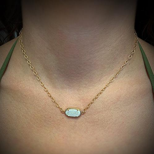 Druzy Quartz Crystal Necklace