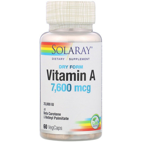 Solaray Vitamin A 60 caps