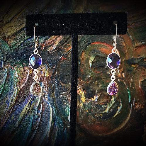 Amethyst & Druzy Earrings