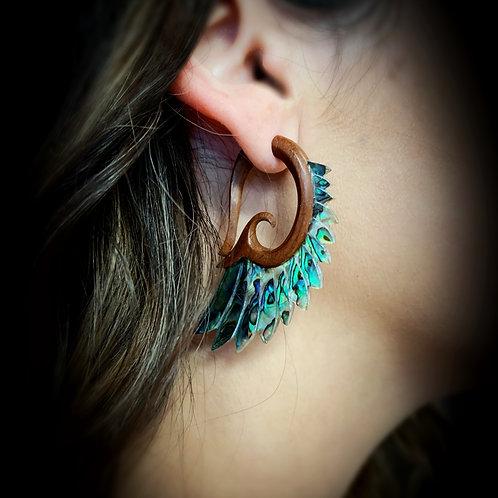 Abalone Shell Tribal Earrings