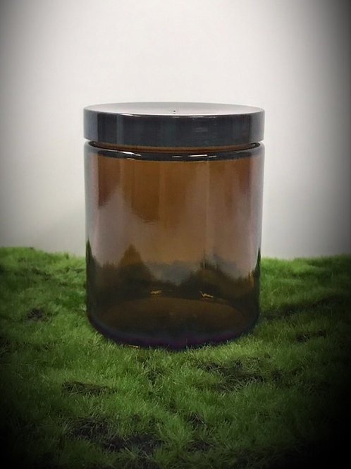 Amber Glass Jar, 8 oz.