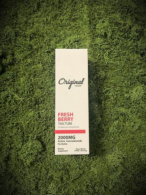 "Original Hemp 2000mg ""Fresh Berry"" CBD Tincture"