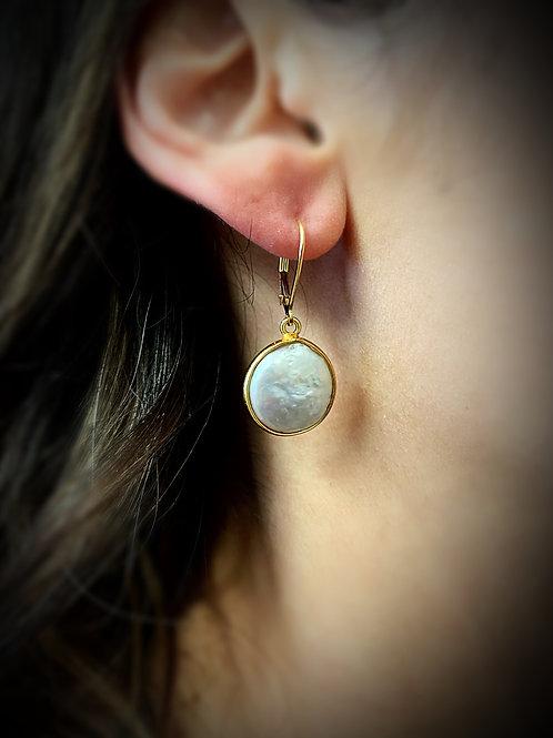 Pearl Gemstone Drop Earring