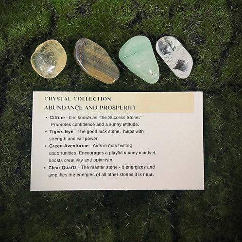 Abundance & Prosperity Crystal Gemstone Medicine Bag