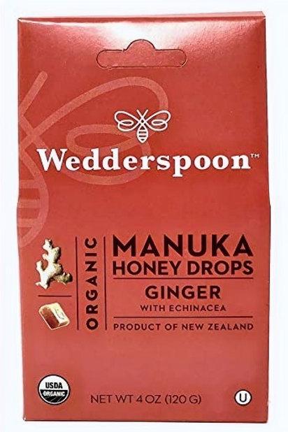 Organic Manuka Honey Drops with Ginger and Echinacea