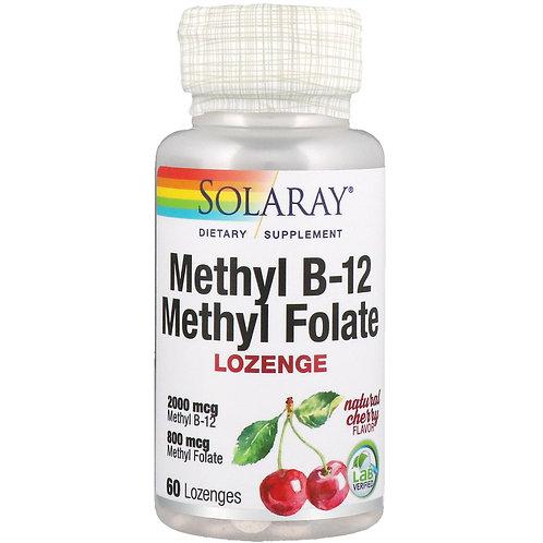 Solaray Methyl B-12 Lozenge Cherry 60 ct., 5000 mg