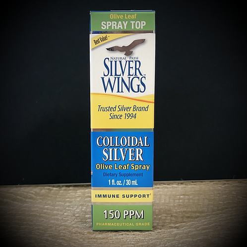 Colloidal Silver & Olive Leaf Spray 150 PPM- 1 fl. oz.