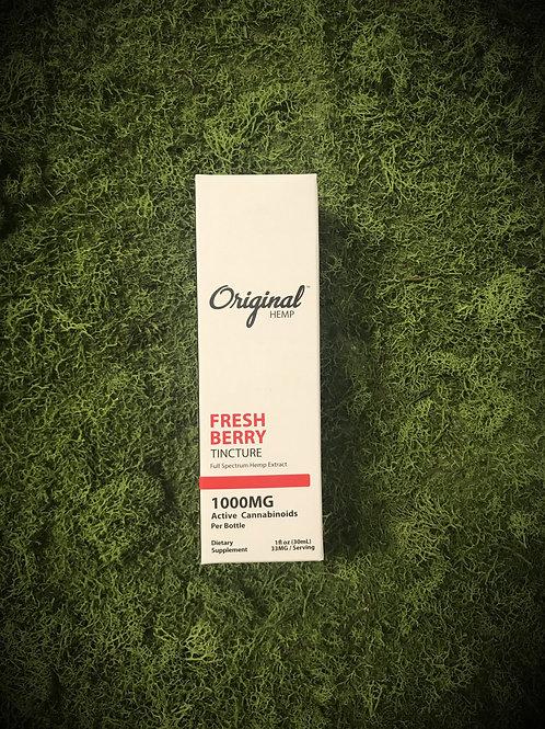 "Original Hemp 1000mg ""Fresh Berry"" CBD Tincture"