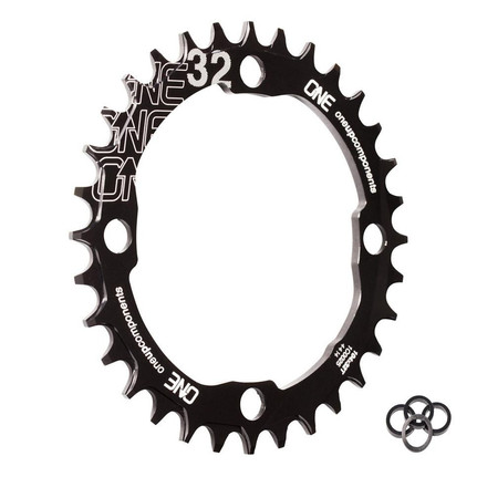 32T-104BCD Narrow Wide Chainring Black