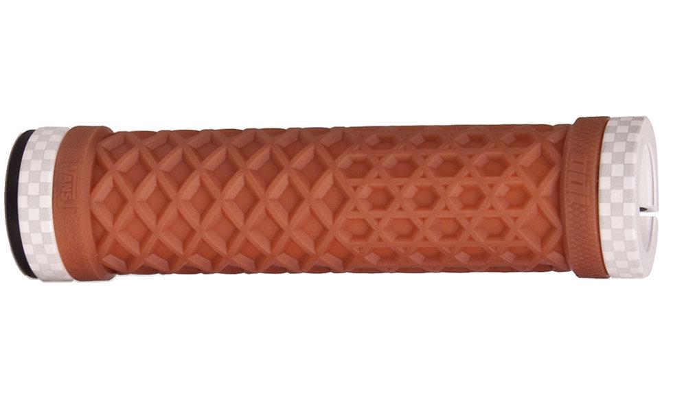 Odi Vans Lock-On Grips Gum/White