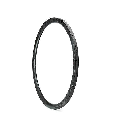 Knight 35 Carbon Disc CX Tubular Rim - Black 700c
