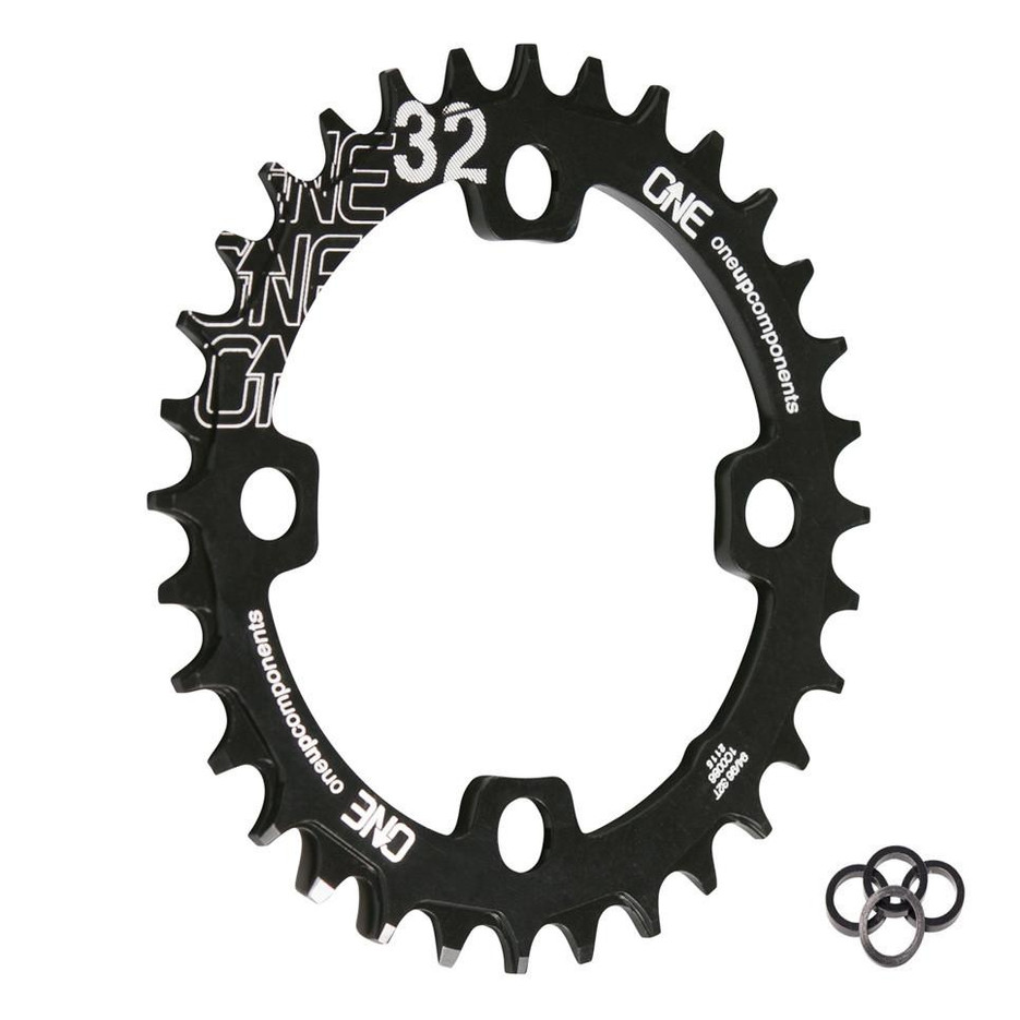 32T 94-96BCD Narrow Wide Chainring Black