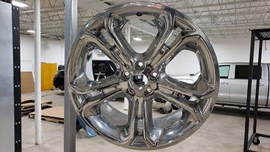 chrome powder coated rim for SUV