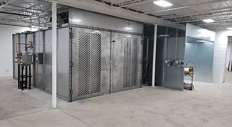 Prep bay inside TEC Industries Powder Coating Division