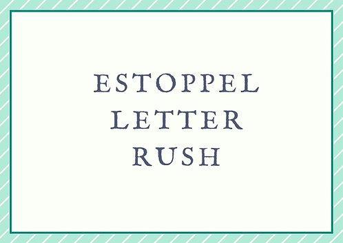 Estoppel Letter - Rush