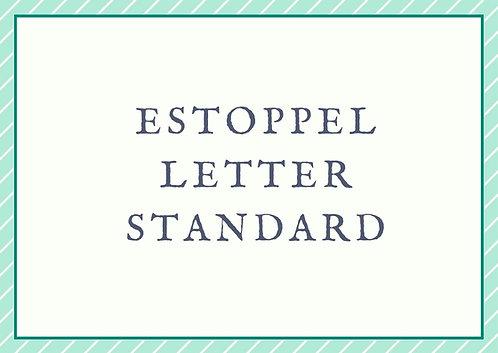 Estoppel Letter - Standard