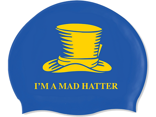 I'M A MAD HATTER Swim Hat