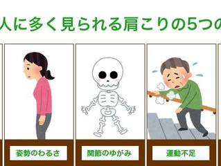 日本は肩こり大国。。肩こりの主な原因(肩こりその1)
