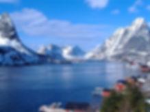 Фьорды зимой