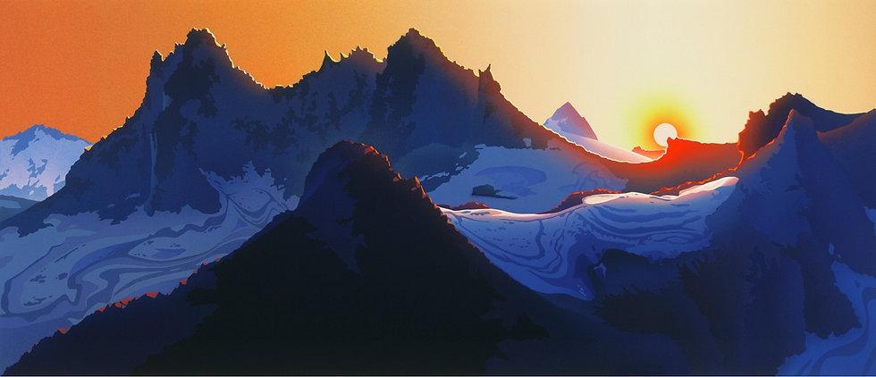 RJ32 - Sunset at Mount Fee