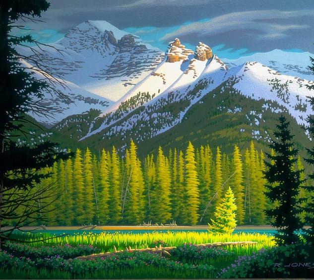 "RJ71  ""Spring Mood Banff"""