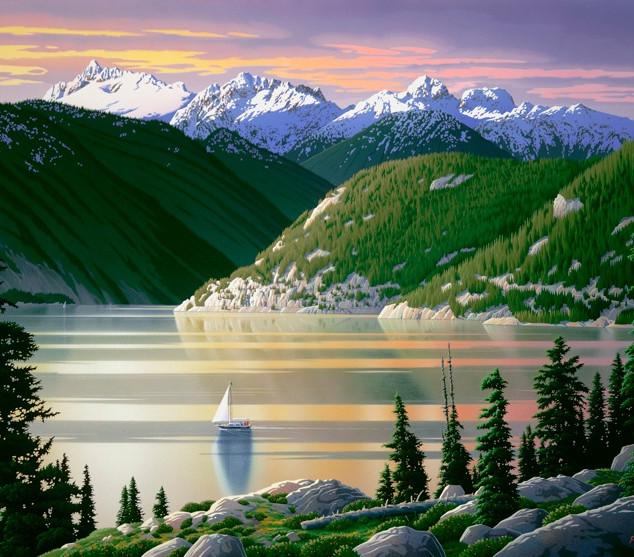 "RJ52  ""Howe Sound, Evening Light"""