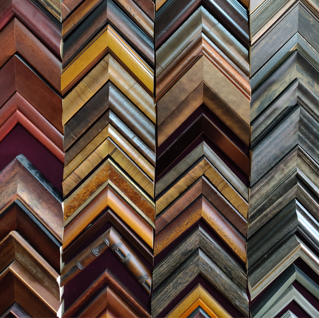 We have a large selection of frames, glass, and mats in stock.  Custom requests welcome with past projects as large as 12ft!