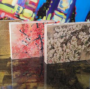Wood Printed Sample Boxes
