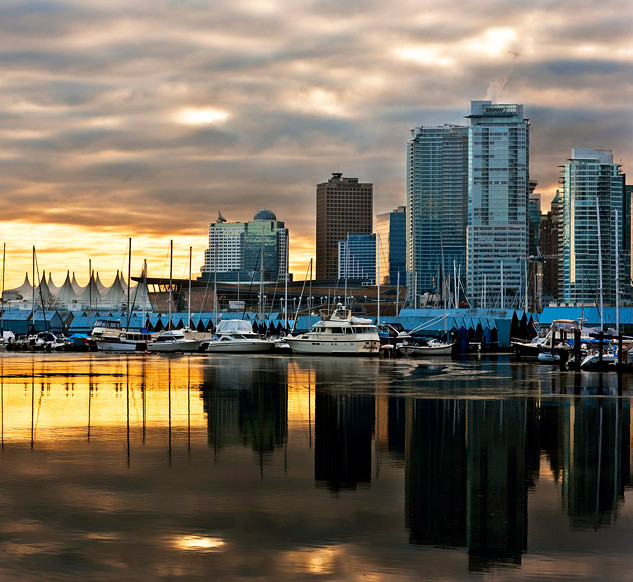 """Sunrise over the Sails"" - British Columbia"