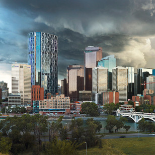 """Storm Clouds over Center Street"" - Alberta"