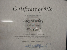 Certificate of Hire