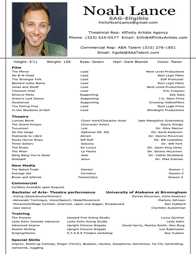 Noah Holcomb Resume (2020- Updated JANUA