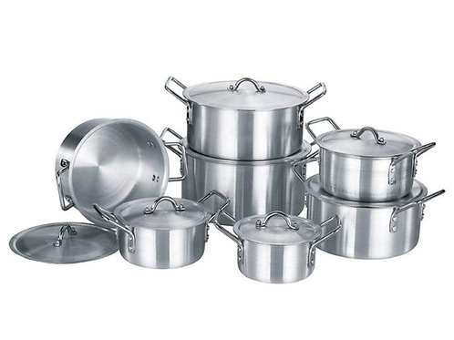 PNS 7 SETS  COOKWARE SET WITH LIDS ALUMINIUM