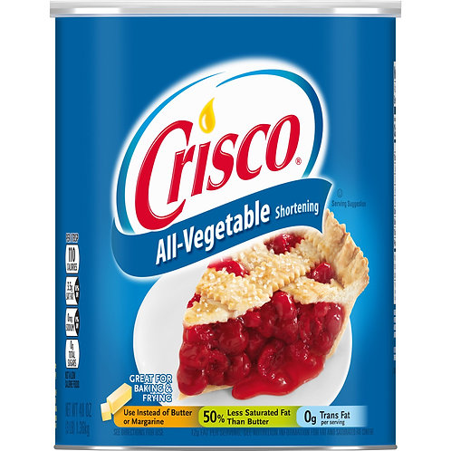 Crisco All-Vegetable Shortening, 48-Ounce