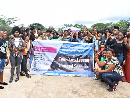NYWCL-lesson learned session with 40 mentees from across the fifteen counties in Liberia
