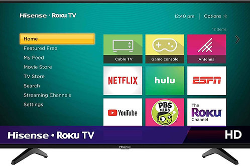 Hisense 32-Inch Class H4 Series LED Roku Smart TV with Alexa Compatibility (32H4