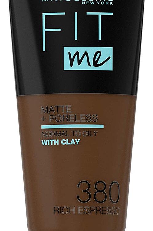 Maybelline Fit Me Matte & Poreless Foundation 380 Rich Espresso 30ml