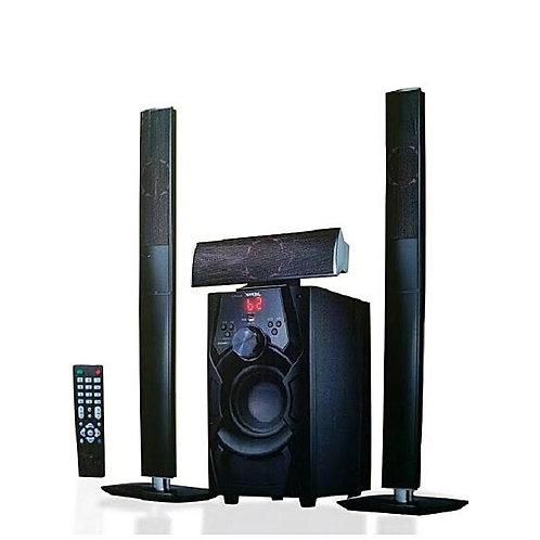 Jiepak 3.1 Channel Bluetooth Bass Home Theatre System - Black