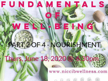 Fundamentals of Wellbeing - Compass to Wellness part 2: SUSTENANCE through NUTRITION & HYDRATION