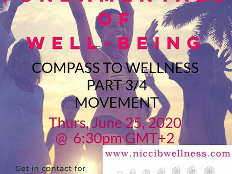 Fundamentals of Wellbeing - Compass to Wellness part 3: MOVEMENT
