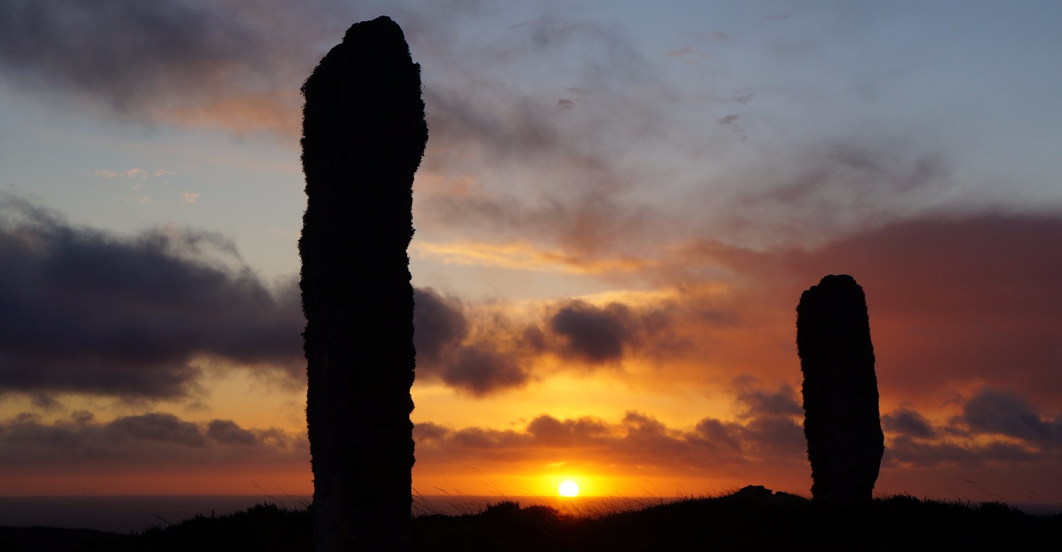 Standing stones at Yarrows