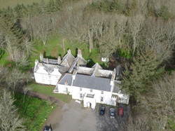 Aerial view of Thrumster House