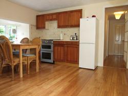 Kitchen in the garden apartment